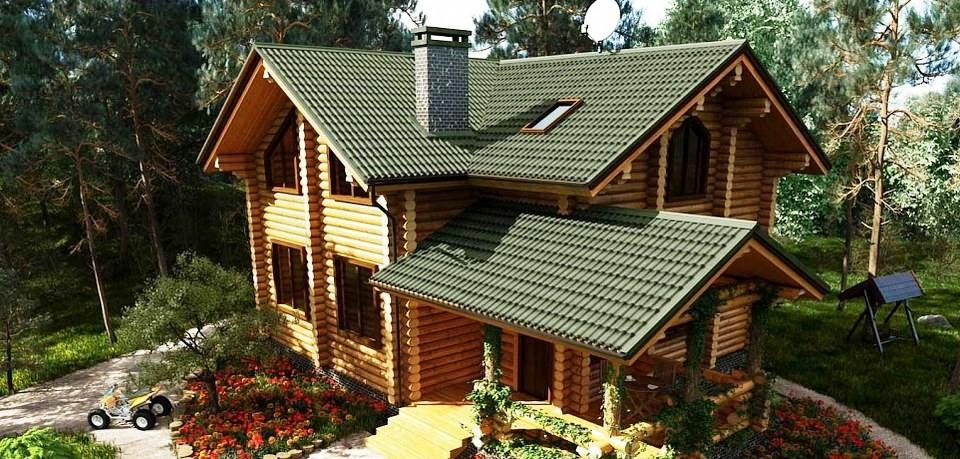 Черепица Ондулин крыша дома