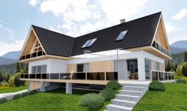 Модульная металлочерепица Blachotrapez дом