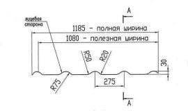 Профиль металлочерепицы Альтер 350-20