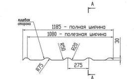 Профиль металлочерепицы Альтер 350-15