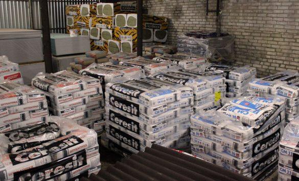 Сухие строительные смеси на складе в Бобруйске